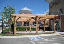 Timber framed Pergola