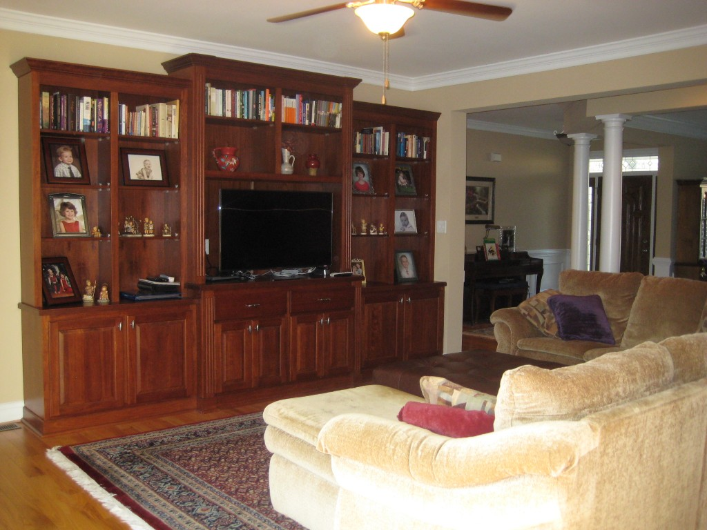 Beau Living Room With Entertainment Center