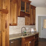 Custom cabinetry and granite counters.